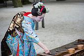 Geisha at Kyoto Temple