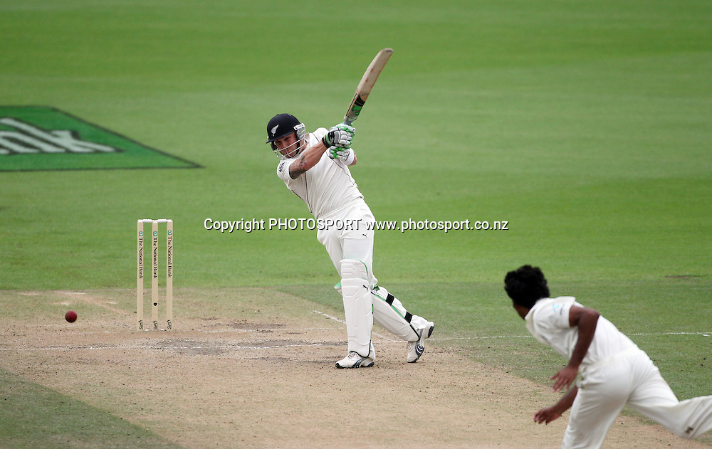 Brendon McCullum batting.<br />Day 4. Test match cricket. One off test.<br />New Zealand Black Caps versus Bangladesh.<br />Seddon Park, Hamilton, New Zealand.<br />Thursday 18 February 2010.<br />Photo: Andrew Cornaga/PHOTOSPORT