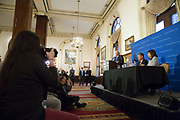 A press conference to address the recent United Airlines removal of Doctor David Dao, at the Union League Club in downtown Chicago, Ill., on Thursday, April 13, 2017.