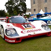 #14 Porsche 956-106 -The Canon-liveried 1984 Brands Hatch 1,000 km winner. Sold to Walter Brun in 1985 & won the Team World Championship title in 1986, ahead of the Rothmans Porsche and Silk Cut Jaguar factory teams (Salon Privé, London 24 June 2011)