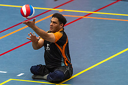 20-04-2019 NED: Dirk Kuyt Foundation Cup, Veenendaal<br /> National Cup sitting volleyball in Veenendaal / Allvo
