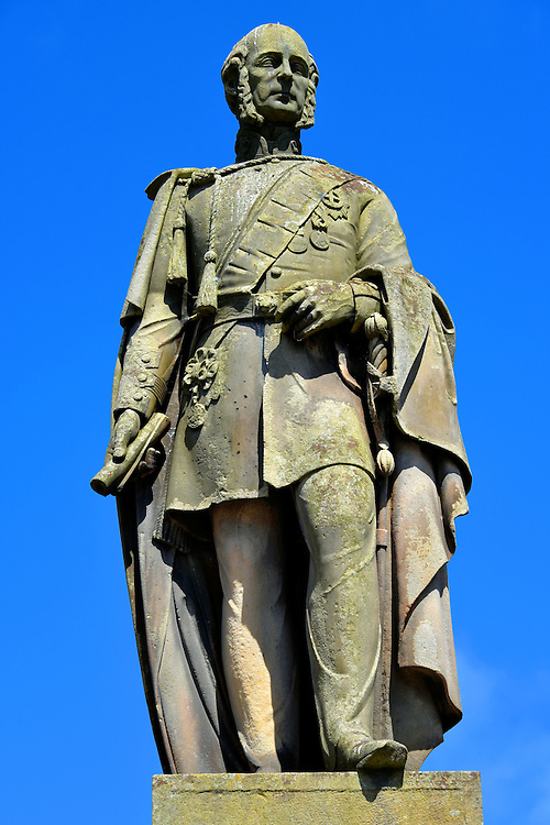 Charles Gordon-Lennox Statue in Huntly, Scotland <br />