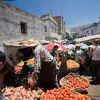 Greengrocer's stall in the souk, Tetouan, Morocco