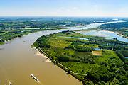 Nederland, Gelderland, gemeente Berg en Dal, 29-05-2019; Ooijpolder ten oosten van Nijmegen, Millingerwaard en Waal. Gezien naar de Rijn in Duitsland, Onderdeel van natuurgebied de Gelderse Poort.<br /> Ooijpolder east of Nijmegen. Part of the Gelderse Poort nature reserve.<br /> luchtfoto (toeslag op standard tarieven);<br /> aerial photo (additional fee required); <br /> copyright foto/photo Siebe Swart