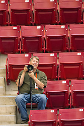 28 September 2014:  Jim Finch during an NCAA womens volleyball match between the Evansville Purple Aces and the Illinois State Redbirds at Redbird Arena in Normal IL