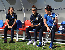 Bristol Academy's Gabbie Simmons-Bird and Jasmine Matthews remain on the bench due to injuries - Mandatory by-line: Paul Knight/JMP - 25/07/2015 - SPORT - FOOTBALL - Bristol, England - Stoke Gifford Stadium - Bristol Academy Women v Sunderland AFC Ladies - FA Women's Super League