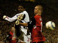 Photo. Glyn Thomas, Digitalsport<br /> West Bromwich Albion v Blackburn Rovers. <br /> Barclays Premiership. 26/04/2005.<br /> Blackburn's Dominic Matteo (R) fails to block a shot from Kanu.