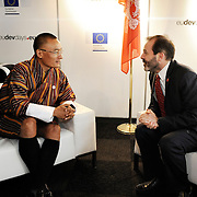 20150603- Brussels - Belgium - 03 June2015 - European Development Days - EDD  - Bilateral Meeting  Tshering Tobgay Prime Minister of Bhutan and Alex Their from Usaid.  © EU/UE