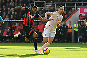 Callum Wilson (13) of AFC Bournemouth on the attack chased by Nemanja Matic (31) of Manchester United during the Premier League match between Bournemouth and Manchester United at the Vitality Stadium, Bournemouth, England on 3 November 2018.