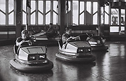 Boys on bumper cars, Brighton, UK, 1986.