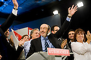 Meting of the opening of the election campaign of the Spanish Socialist Party (PSOE).Alfredo Perez Rubalcaba.