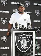 May 3, 2019; Alameda, CA, USA; Oakland Raiders defensive end Clelin Ferrell (96) during rookie minicamp press conference at the Raiders practice facility.