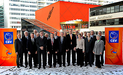 30-01-2010 VOLLEYBAL: CEV MEETING: DEN HAAG<br /> Vergadering van de CEV board in het Mercure hotel / groepsfoto met oa. Riet Ooms en Andre Meyer<br /> ©2010-WWW.FOTOHOOGENDOORN.NL