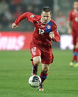 Fussball International, Nationalmannschaft   EURO 2012 Play Off, Qualifikation, Tschechische Republik - Montenegro        11.11.2011 Zdenek Pospech (Tschechische Republik)