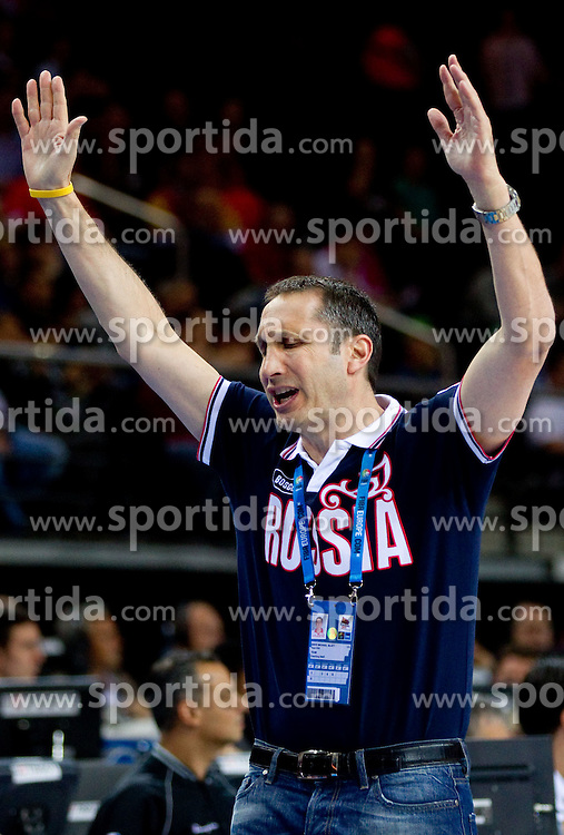 David Blatt, head coach of Russia reacts during basketball game between National basketball teams of F.Y.R. of Macedonia and Russia of 3rd place game of FIBA Europe Eurobasket Lithuania 2011, on September 18, 2011, in Arena Zalgirio, Kaunas, Lithuania. (Photo by Vid Ponikvar / Sportida)