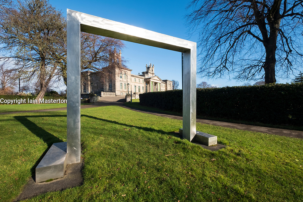 Gate sculpture by William Turnbull at Scottish National Gallery of Modern Art - Two, in Edinburgh, Scotland, UK
