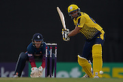 Hampshire T20 all rounder Shahid Afridi during the NatWest T20 Blast South Group match between Hampshire County Cricket Club and Kent County Cricket Club at the Ageas Bowl, Southampton, United Kingdom on 2 June 2016. Photo by David Vokes.