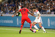 Terrier Martin of Lyon and Herelle Christophe of Nice during the French championship L1 football match between Olympique Lyonnais and Amiens on August 12th, 2018 at Groupama stadium in Decines Charpieu near Lyon, France - Photo Romain Biard / Isports / ProSportsImages / DPPI