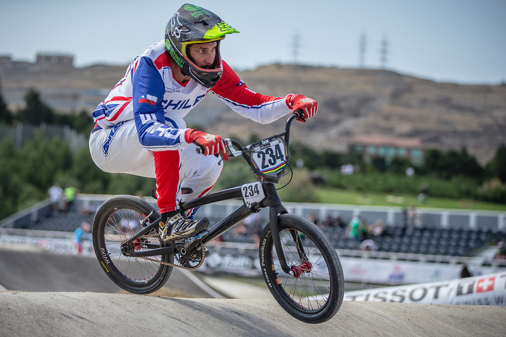 Men Elite #234 (CONCHA RIVAS Jose Miguel) CHI the 2018 UCI BMX World Championships in Baku, Azerbaijan.