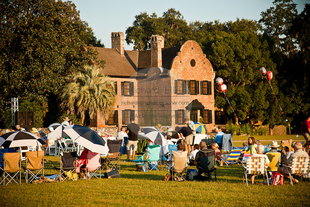 The Charleston chamber orchestra performs an evening concert at historic Middleton Place Plantation Charleston, SC.