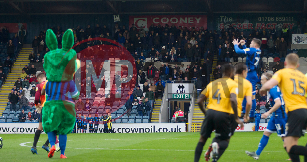 General view of the Bristol Rovers fans - Mandatory by-line: Jack Phillips/JMP - 02/11/2019 - FOOTBALL - Crown Oil Arena - Rochdale, England - Rochdale v Bristol Rovers - English Football League One