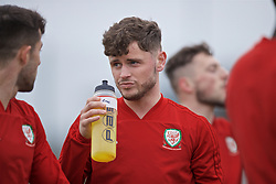 NEWPORT, WALES - Thursday, March 21, 2019: Wales' Kieran Evans during an Under-21 training session at Dragon Park. (Pic by David Rawcliffe/Propaganda)
