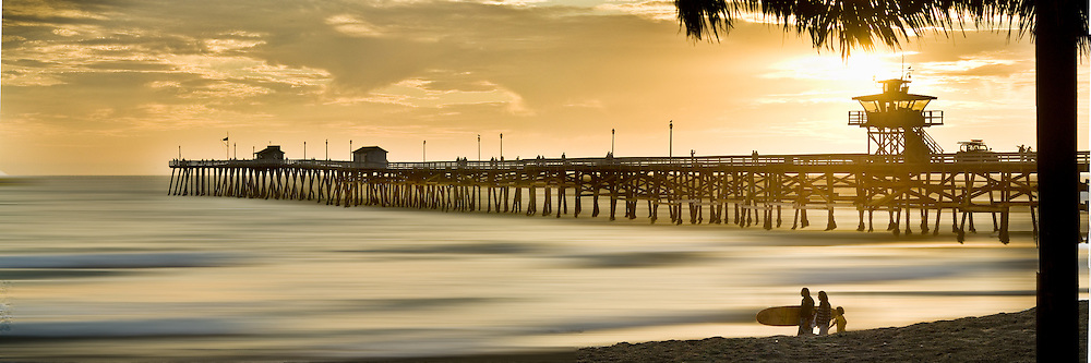 Panorama Of San Clemente Pier At Sunset