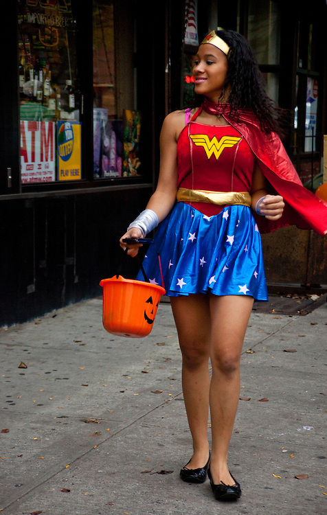 Wonder Woman! Taken at the Halloween Day Parade in Park Slope, Brooklyn.