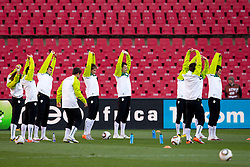Nejc Pecnik, Valter Birsa, Suad Filekovic, Zlatan Ljubijankic and other players of Slovenia during a training session at  Ellis Park Stadium on June 17, 2010 in Johannesburg, South Africa.  (Photo by Vid Ponikvar / Sportida)