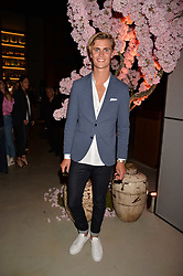 Sam Harwood at the Warner Music Group and British GQ Summer Party in partnership with Quintessentially held at Nobu Shoreditch, Willow StreetLondon England. 5 July 2017.<br /> Photo by Dominic O'Neill/SilverHub 0203 174 1069 sales@silverhubmedia.com