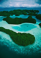 Aerial view of the Rock Islands, Palau