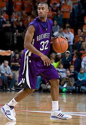 Northwestern guard-forward Sterling Williams (32)..The Virginia Cavaliers men's basketball team faced the Northwestern Wildcats at John Paul Jones Arena in Charlottesville, VA on November 27, 2007.