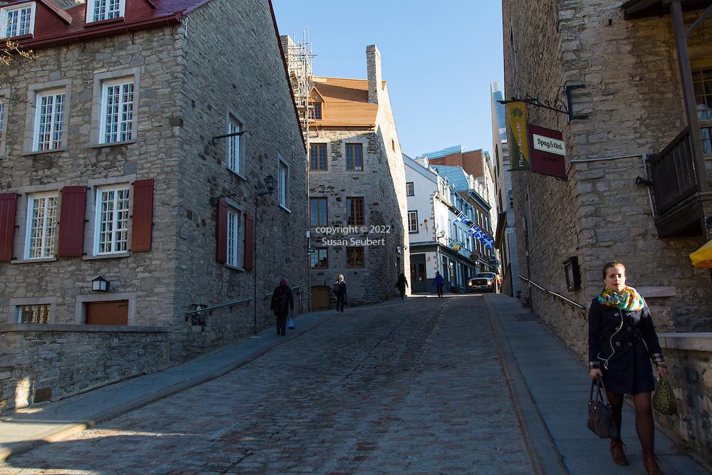 Lower Vieux Quebec, also known as Quartier Petit Champlain, Quebec City, Quebec, Canada