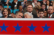 George and Barbara Bush are seen in the stands at the Republican National Convention in Madison Square Garden in Manhattan, NY. 8/31/2004
