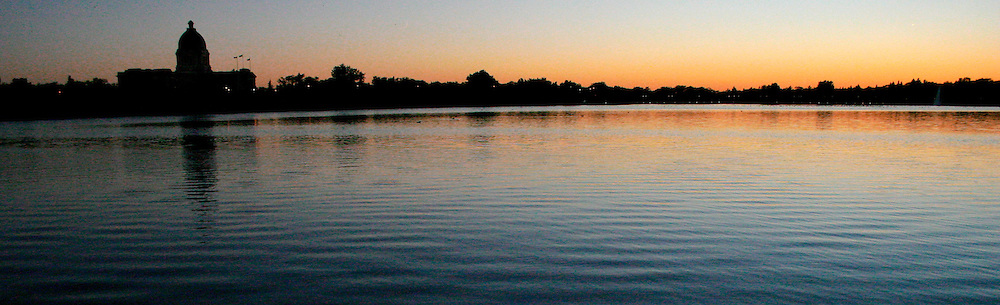 Sunset over Wascana Lake, Regina Saskatchewan