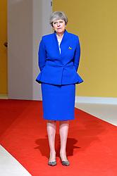 July 7, 2017 - Hamburg, Deutschland - Theresa May Prime Minister United Kingdom,.Offizielle Begruessung der G20-Staats- und Regierungschefs, Hamburg, Germany - 07 Jul 2017.Credit:.Credit: Timm/face to face (Credit Image: © face to face via ZUMA Press)