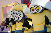 NEW YORK, NY, USA, Nov. 28, 2013. The Despicable Me 2 float moves down Central Park West during the 87th Annual Macy's Thanksgiving Day Parade.
