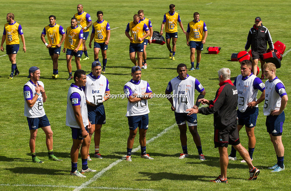 General View during Crusaders Training before the Super Rugby season held at Rugby Park. 14 January 2016. Photo: Joseph Johnson / www.photosport.nz