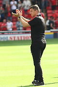 Barnsley Manager Paul Heckingbottom apllauding thefans during the EFL Sky Bet Championship match between Barnsley and Sunderland at Oakwell, Barnsley, England on 26 August 2017. Photo by Justin Parker.
