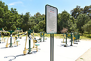 Fitness Area at Irvine Regional Park in Orange County, California