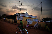 Street scene outside a mosque in Tamale, northern Ghana on Tuesday March 24, 2009.