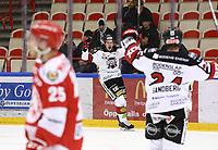 2020-03-07   Ljungby, Sverige: Bodens HF (28) Marcus Sandström jublar efter att gjort 2-3 under matchen i Hockeyettan mellan IF Troja/Ljungby och Bodens HF i Ljungby Arena ( Foto av: Fredrik Sten   Swe Press Photo )<br /> <br /> Nyckelord: Ljungby, Ishockey, Hockeyettan, Ljungby Arena, IF Troja/Ljungby, Bodens HF, fstb200307, playoff, kval