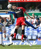 Photo: Mark Stephenson.<br /> Birmingham City v Southampton. Coca Cola Championship. 14/04/2007.Southampton's Chris Baird wins the header