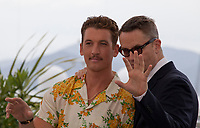 Actor Miles Teller and Nicolas Winding Refn at Too Old to Die Young – North of Holywood, West of Hell, Rendez Vous with Nicolas Winding Refn photo call at the 72nd Cannes Film Festival, Saturday 18th May 2019, Cannes, France. Photo credit: Doreen Kennedy