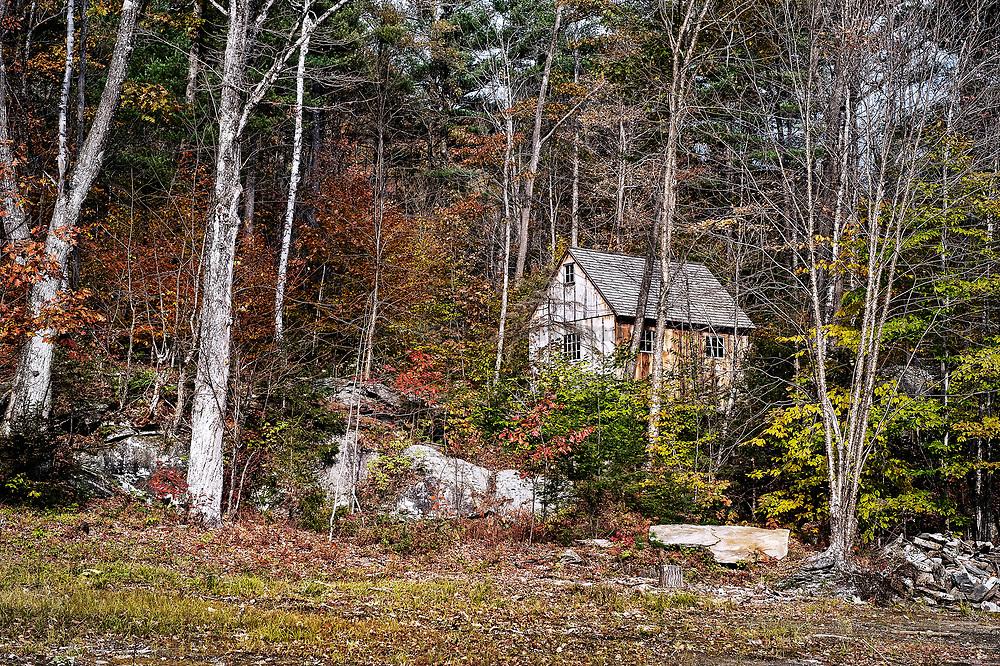 Remote mountain cabin, Vermont, USA