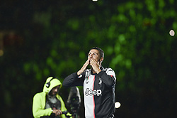 May 19, 2019 - Turin, Turin, Italy - Cristiano Ronaldo of Juventus FC celebrates the trophy of Scudetto  2018-2019 at Allianz Stadium, Turin  (Credit Image: © Antonio Polia/Pacific Press via ZUMA Wire)