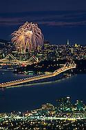 Fireworks over downtown San Francisco, California