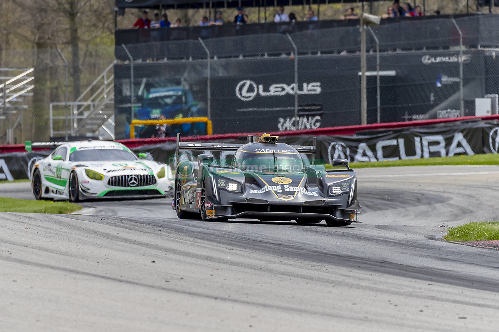 May 6, 2018 - Lexington, Ohio, United States of America - The Mustang Sampling Racing Cadillac DPI car races through the turns during the Acura Sports Car Challenge race at the Mid-Ohio Sports Car Course in Lexington, Ohio. (Credit Image: © Walter G Arce Sr Asp Inc/ASP via ZUMA Wire)