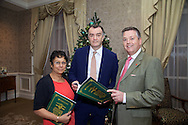 Pictured at The Ireland - U.S. Council Holiday Season Member - Guest Reception at the InterContinental Hotel were (L-R):   NilaKanti Ford - Satamana<br /> Aog&aacute;n Foley - Incisive Capital Management<br /> Adrian Bolton - S&amp;C Electric Company