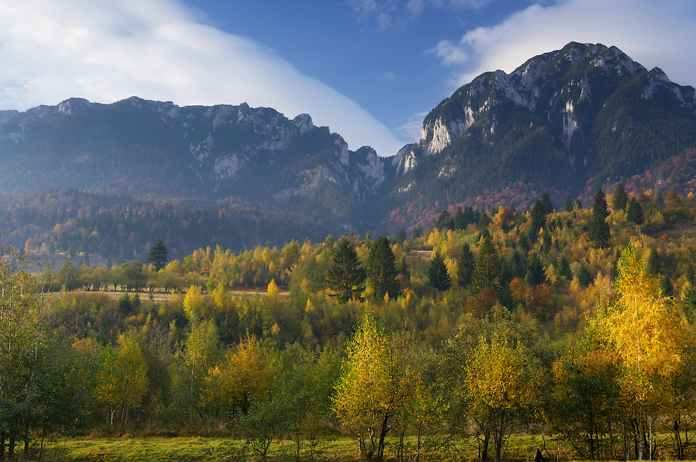 Rock of the King, (Mt. Piatra Mica 1816m and Tumu 1923 m), National Park Piatra Craiului, Transylvania, Southern Carpathians, Romania